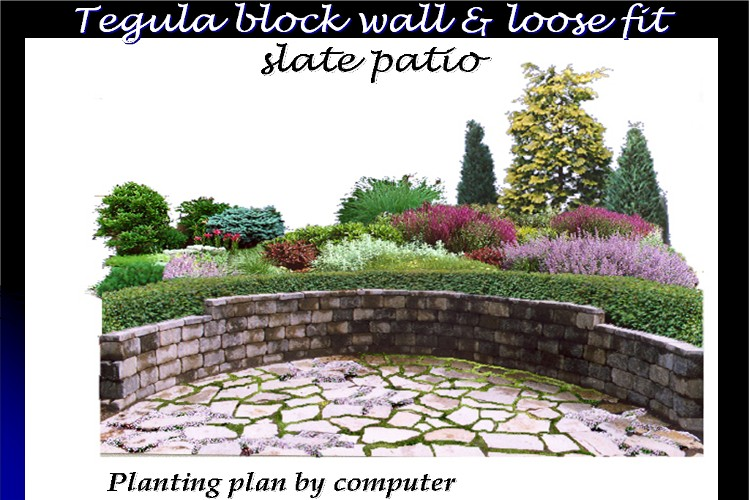 Tegula block wall