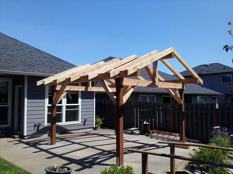 Pavilion in progress