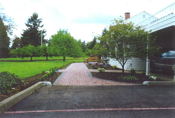 Brick Entry Parking Strip