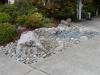 Entry boulders, river rock & Mexican black pebbles