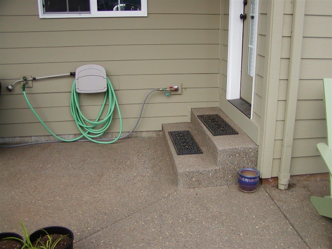 Exposed concrete steps (before)