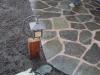 Flagstone patio & light detail