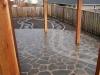 Flagstone patio & path