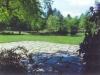 Pennsylvania bluestone patio with moss