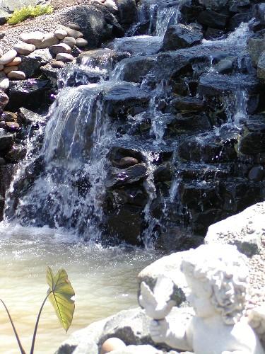 Waterfall at Zeller residence