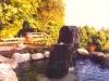 Columns in koi pond