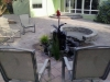 "Paver, fire pit, and pondless ""bubbler"" water feature"