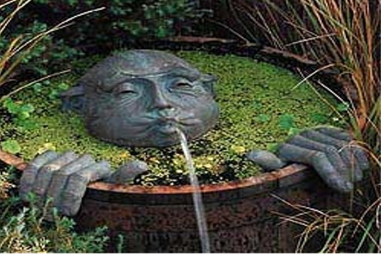 interesting feature water garden waterfall | Additional Water Features | Landscaping, Waterfalls ...