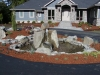Water Feature in Front of West Salem residence